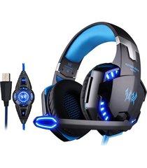 audífono diadema gamer g2200 vibración led