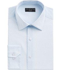 alfani men's slim-fit performance stretch striped cube dress shirt, created for macy's