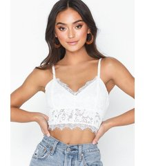 nly trend lace bustier top linnen