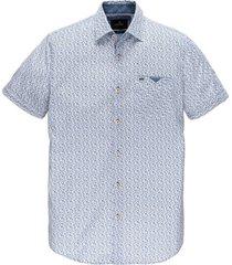 overhemd short sleeve print wit