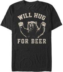 fifth sun men's beer hugs short sleeve crew t-shirt