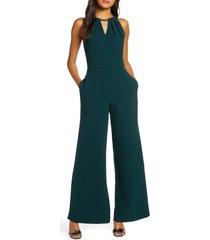 women's donna ricco formal wide leg jumpsuit