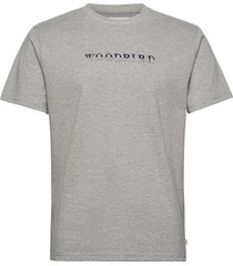 pfeng multi tee t-shirts short-sleeved grå woodbird