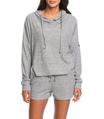 women's roxy way back when hooded sweatshirt, size x-large - grey