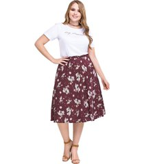 falda larga para mujer estampado mp