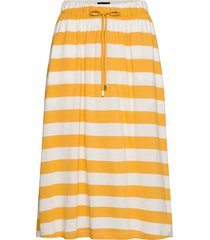 jenni jersey skirt knälång kjol gul lexington clothing