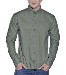 camisa verde militar atypical