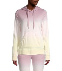 marc new york performance women's french terry classic ombré hoodie - mauve combo - size s