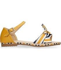 sandalias amarillo bata valmera r mujer