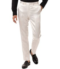 tallia men's slim-fit ivory pants