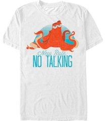 disney men's finding dory hank no talking, short sleeve t-shirt