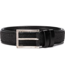 gianfranco ferré pre-owned 1990s woven panel belt - black