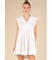 poupette st barth mini sasha lace dress white