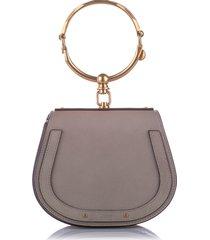 chloe small nile crossbody bag brown, dark brown sz: m