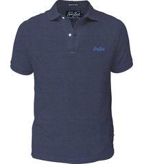 blue cotton jersey polo shirt