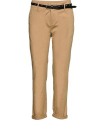 regular fit chino, sold with a belt chino broek beige scotch & soda