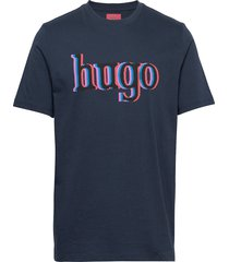 dontrol t-shirts short-sleeved blå hugo
