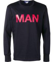 junya watanabe man printed sweatshirt - blue
