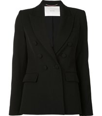 adam lippes double-breasted tech-twill blazer - black