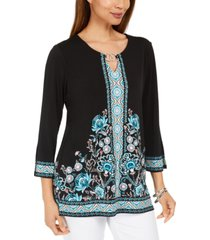 jm collection printed tunic, created for macy's