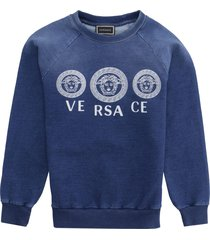 young versace cotton crew-neck sweatshirt