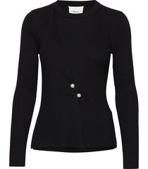 ls ribbed pearl pin pullover stickad tröja svart 3.1 phillip lim