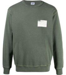 c.p. company cotton fleece gde logo sweatshirt