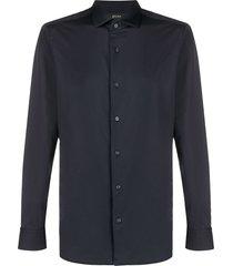 z zegna formal dress shirt - blue