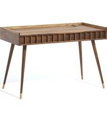 biurko orzechowe z dwiema szufladami. mid century