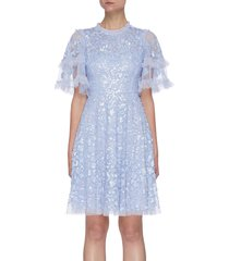'aurelia' all-over sequin embellished mini dress
