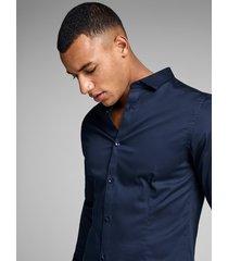 jack & jones overhemd 12097662 parma navy noos - blauw