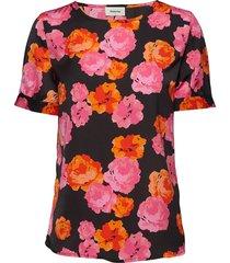 rio print ss top t-shirts & tops short-sleeved multi/patroon modström