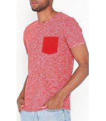 selected homme slhjack ss o-neck tee w t-shirts & linnen mörk röd