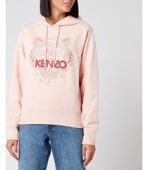 kenzo women's icon classic tiger hoodie - faded pink - l