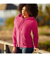 fruit of the loom lady-fit hooded sweat jacket * gratis verzending *