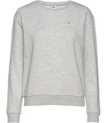 women effie crew sweat sweat-shirt tröja grå fila