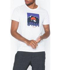jack & jones jordenvers tee ss crew neck t-shirts & linnen vit