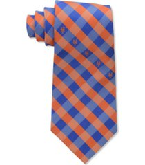 eagles wings new york mets checked tie
