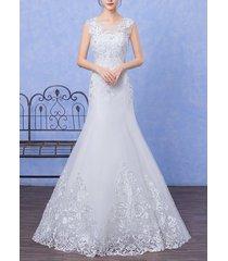 new lace bead wedding dress mermaid trumpet princess duchess bridal gown sweet