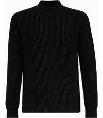 roberto collina maglia in lana a coste