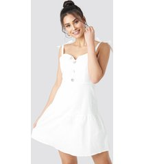 trendyol button detailed mini dress - white