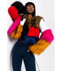 akira better than ever multi fur coat