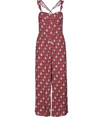 antique paisley jumpsuit beach wear röd seafolly