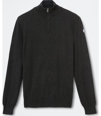 maglia in cotone con zip