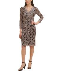 jessica howard petite glitter lace sheath dress