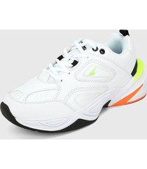 tenis lifestyle blanco-verde-naranja athletic