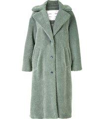 teddy bear coat, sage