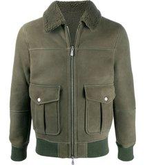 eleventy nubuck flight jacket - green
