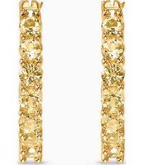 orecchini a cerchio vittore, tono dorato, placcato color oro