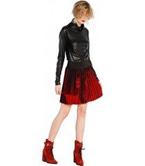 spódnica plisowana amorfic red